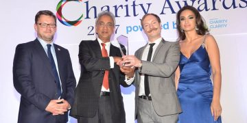 We've been awarded charity of the year!