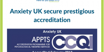 Anxiety UK secure prestigious accreditation