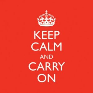 Keep calm and carry on CD